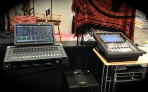 Avid S3L AVB Console and DigiCo SD11 connected via Pivitec's e64i/o-MADI to AVB network bridge.