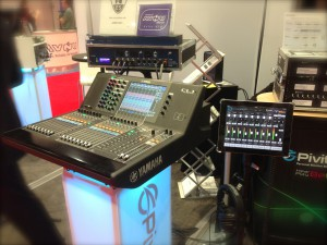 Our next door neighbors, Luminex, had a Yamaha CL5 networked to the consoles in our booth with the Pivitec e16i/o-MY Card for Yamaha.